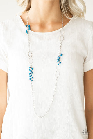 Paparazzi Flirty Foxtrot Blue Necklace