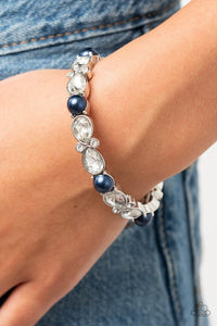 Paparazzi Frosted Finery Blue Bracelet