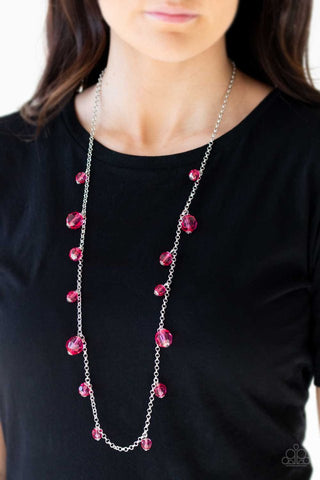 Paparazzi GLOW-Rider Pink Necklace