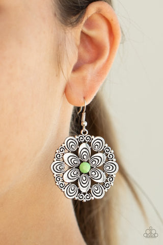 Paparazzi Grove Groove Green Earrings