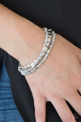 Paparazzi Hello Beautiful Silver Stretchy Bracelet