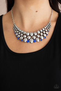 Paparazzi Powerhouse Party Blue Necklace