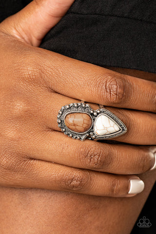 Paparazzi Mojave Mosaic Brown Ring
