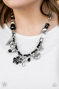 Paparazzi Charmed, I Am Sure - Black Blockbuster Necklace