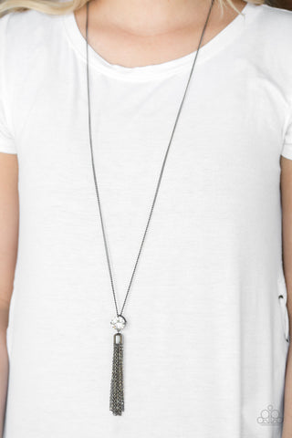 Paparazzi Five-Alarm FIREWORK - Black Necklace