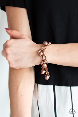 Paparazzi Make Do In Malibu Copper Bracelet