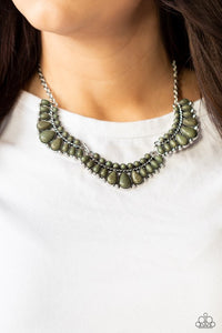 Paparazzi Naturally Native Green Necklace