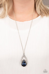 Paparazzi Notorious Noble Blue Necklace