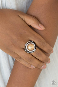 Paparazzi Pampered in Pearls Brown Ring