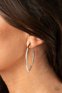 Paparazzi Point-Blank Beautiful Silver Earrings