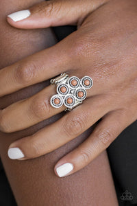 Paparazzi River Rock Rhythm Brown Ring