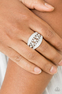 Paparazzi Royal Treasury White Ring