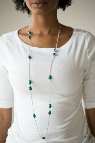 Paparazzi Pacific Piers - Green Necklace