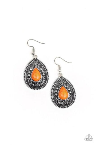 Paparazzi Desert Nirvana Orange Earrings