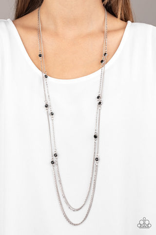 Paparazzi Sparkle of the Day Black Necklace