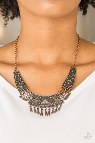 Paparazzi STEER It Up Copper Necklace