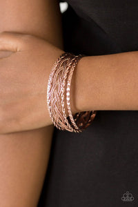 Paparazzi Straight Street Rose Gold Bracelet