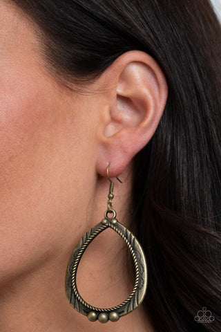 Paparazzi Terra Topography - Brass Earrings