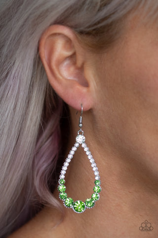 Paparazzi Token Twinkle Green Earrings