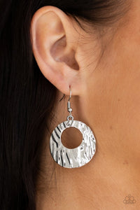 Paparazzi Warped Perceptions Silver Earrings