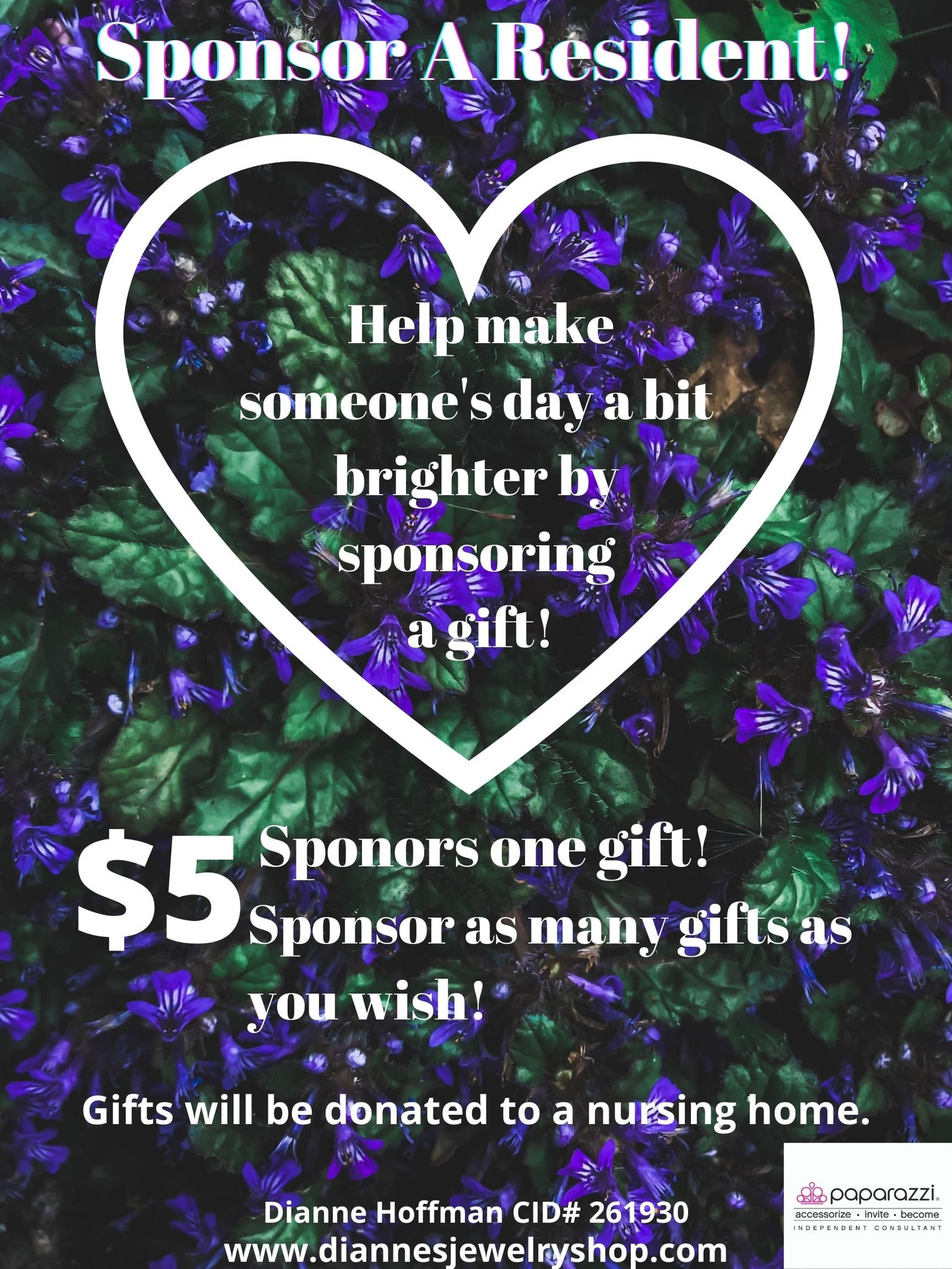 Sponsor A Resident with a $5 Gift