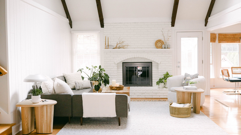 Golden & Pine Designs: Light + Bright Living Room