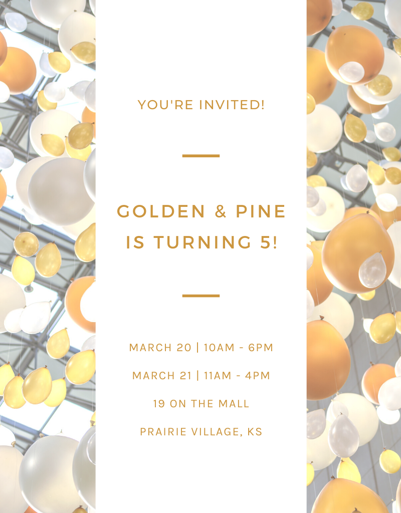 Golden & Pine Turns Five Years Old!