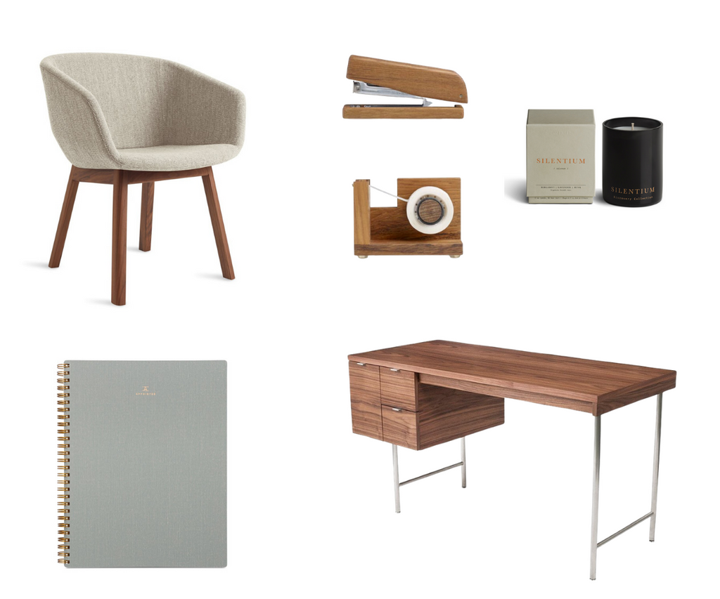 Golden & Pine- Office Moodboard: The Sophisticated Thinker