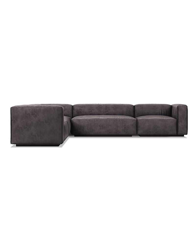Cleon Large Leather Sectional Sofa