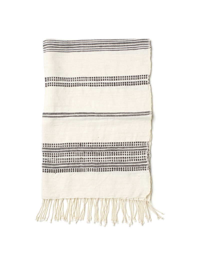 Aden Natural with Gray Hand Towel