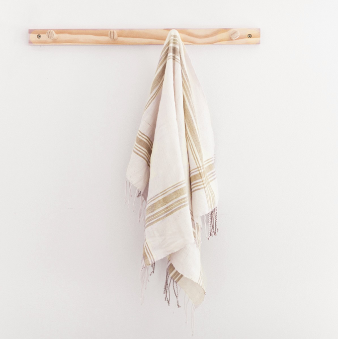 Beige Cabin Hatch Towel