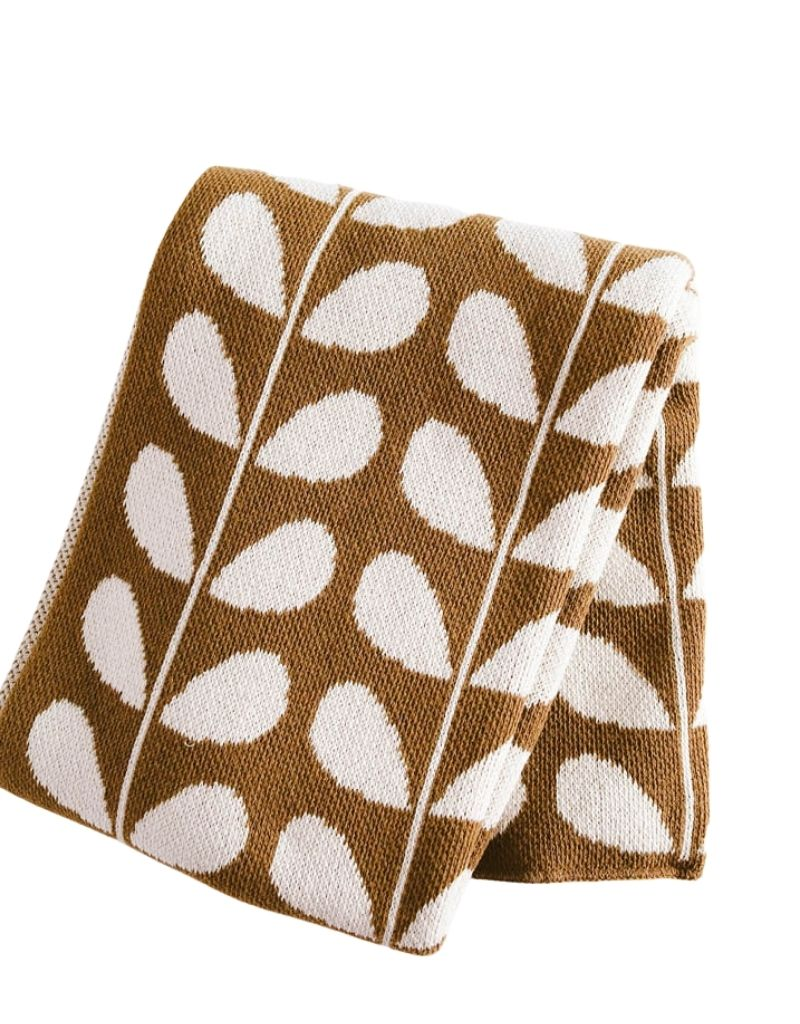 Mod Leaf Eco Throw - Ochre