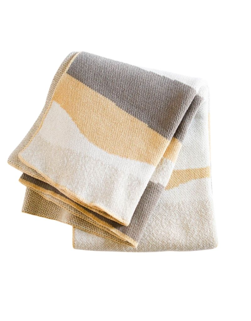 Ivory + Vanilla Landscape Eco Throw