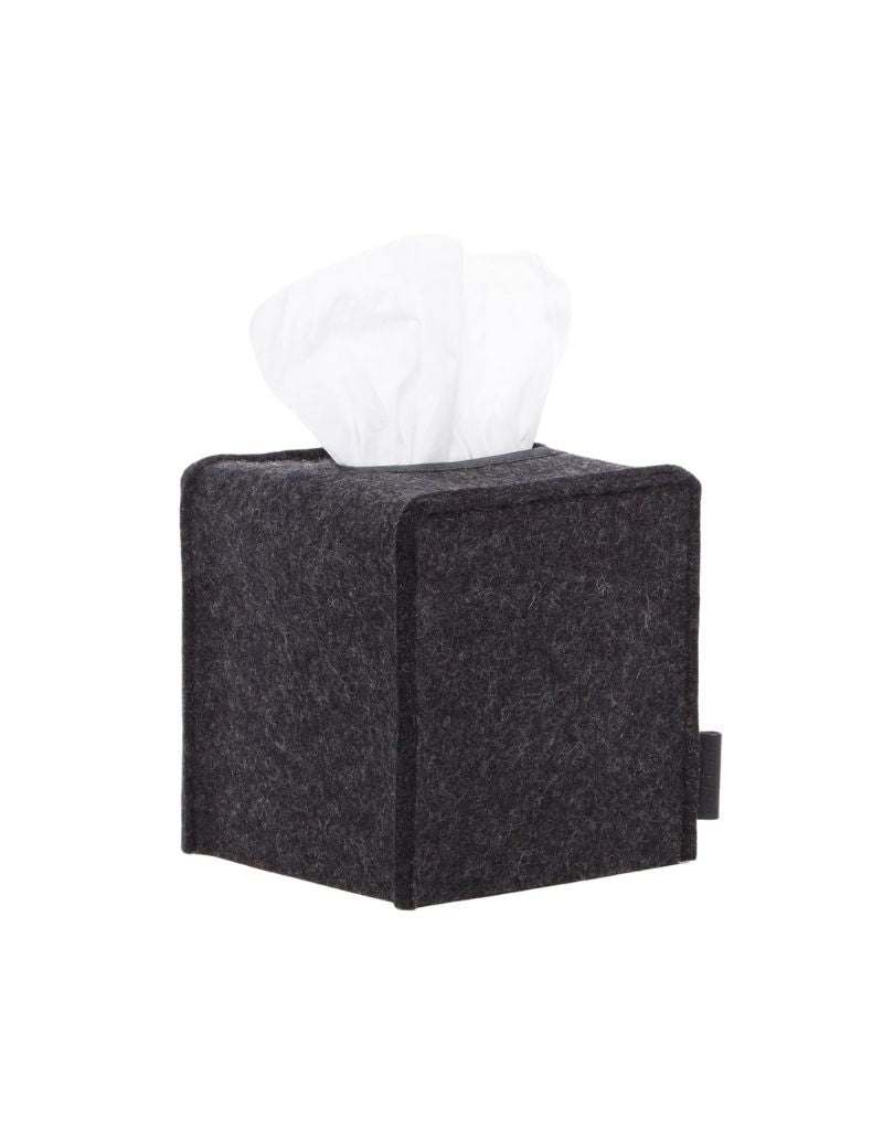 Small Tissue Box Cover, Charcoal