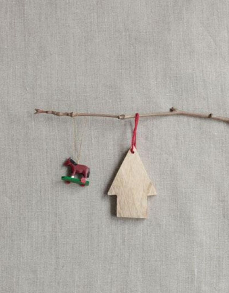 Wooden House Ornament, Large