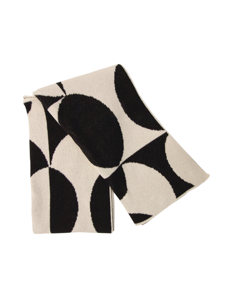 The Puzzle Eco Throw Black