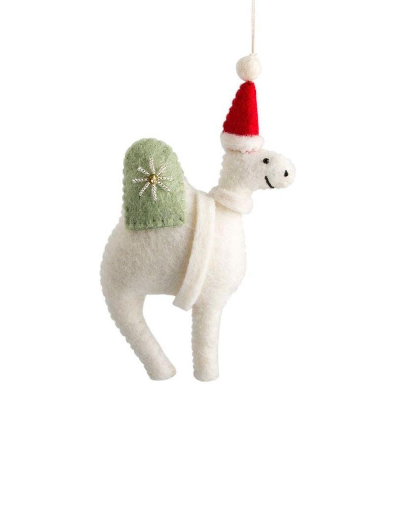 Embellished Felt Camel Ornament