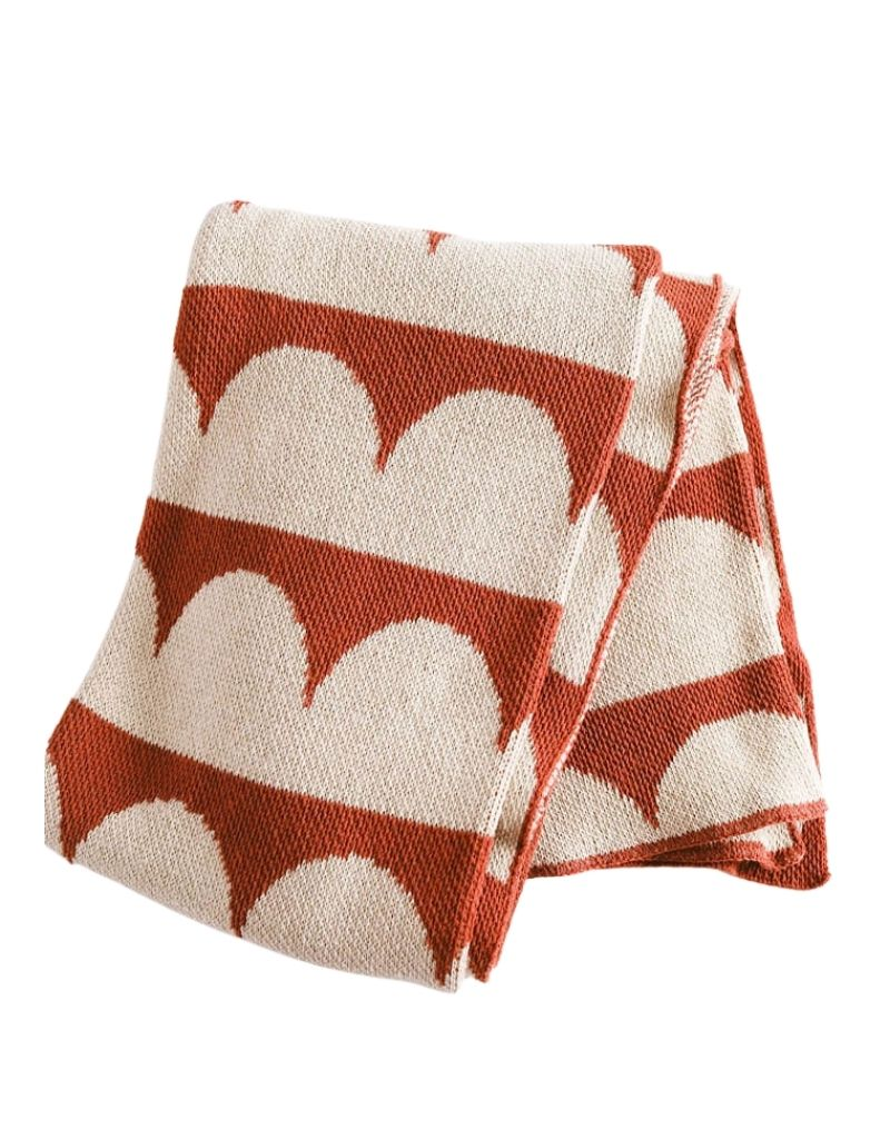 Hippos Eco Throw Linen / Terracotta