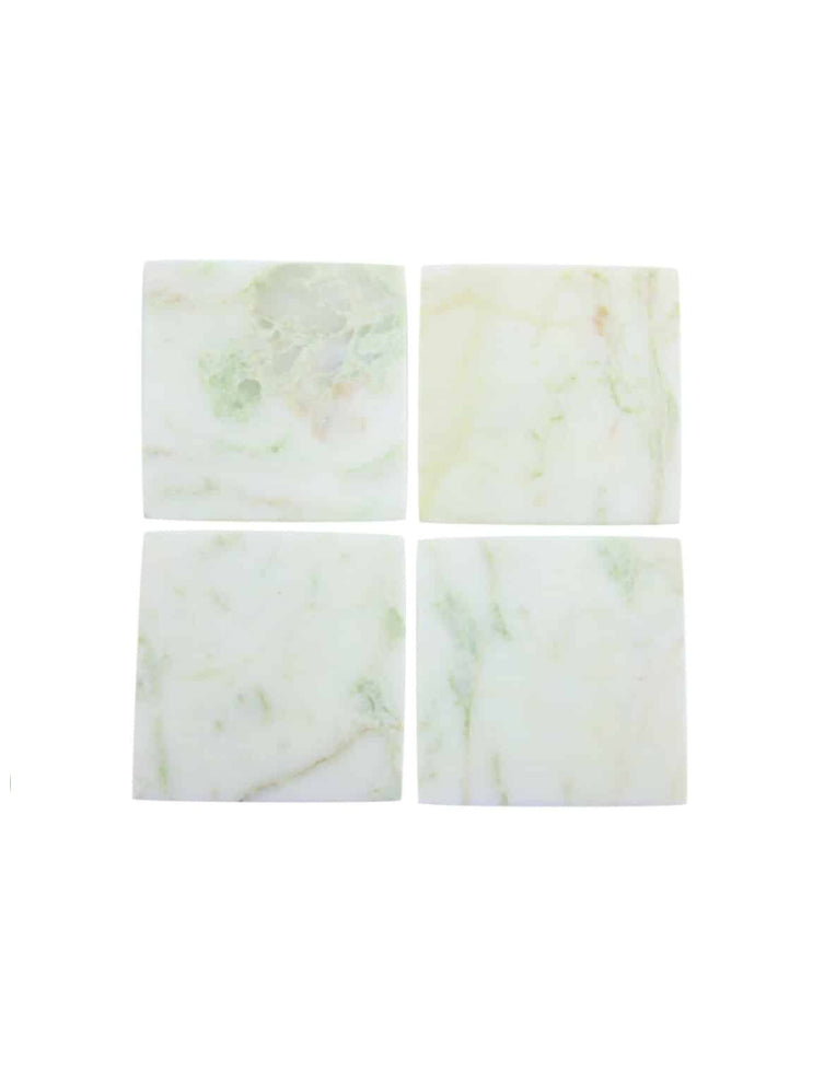 Lady Onyx Marble Square Coasters S/4