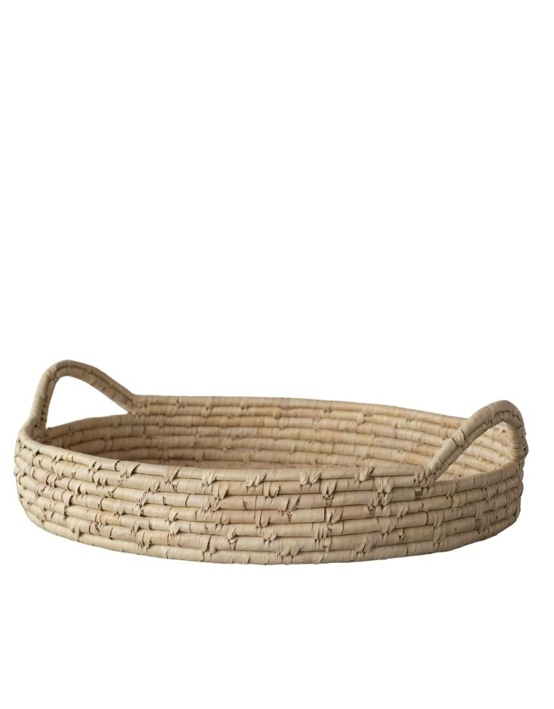Palm Leaf Woven Tray