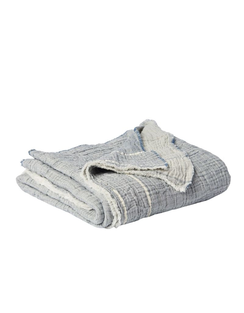 Indigo Chambray Throw