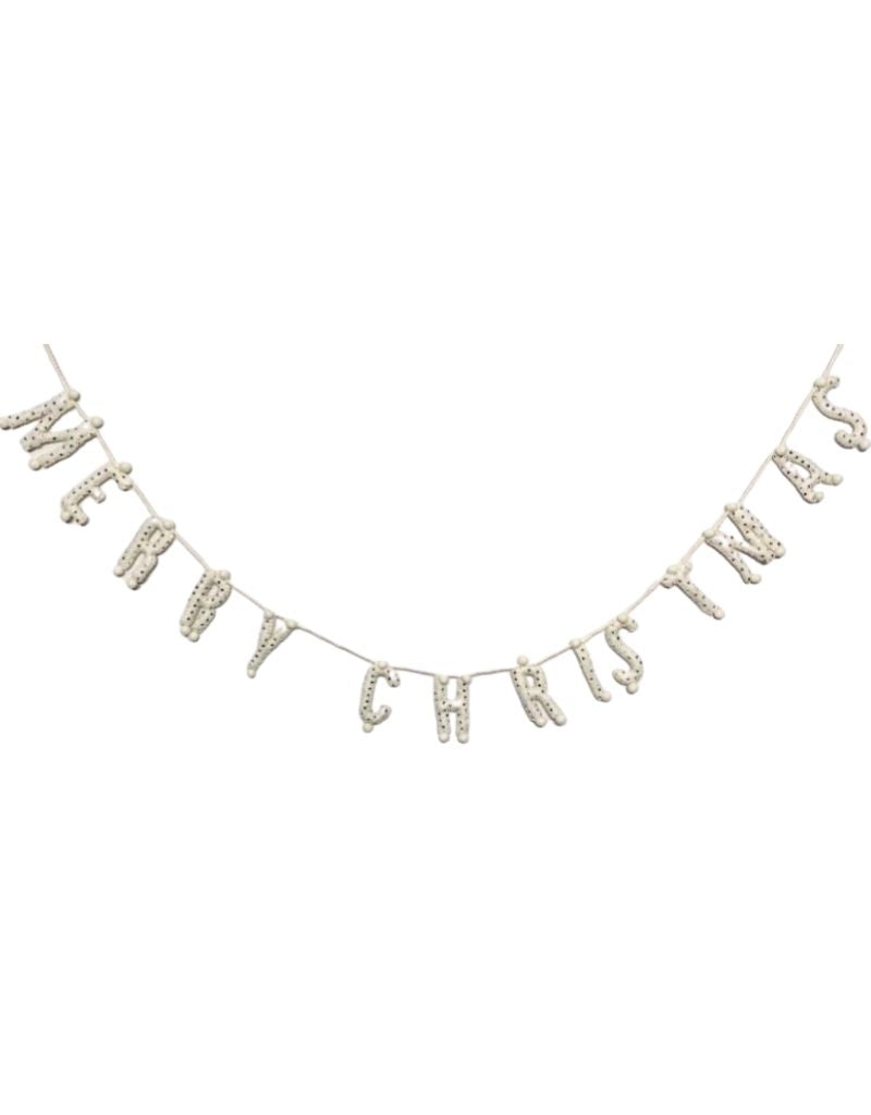 Merry Christmas Garland - Cream