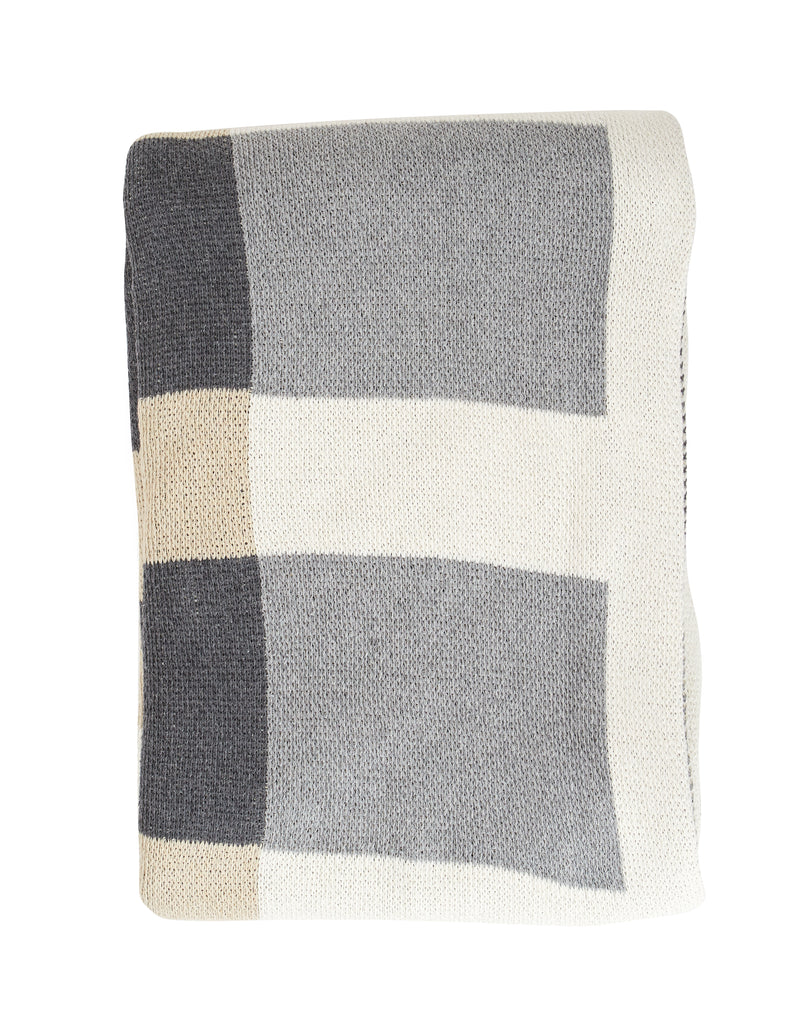 Linen + Grey Layers Recycled Cotton Throw