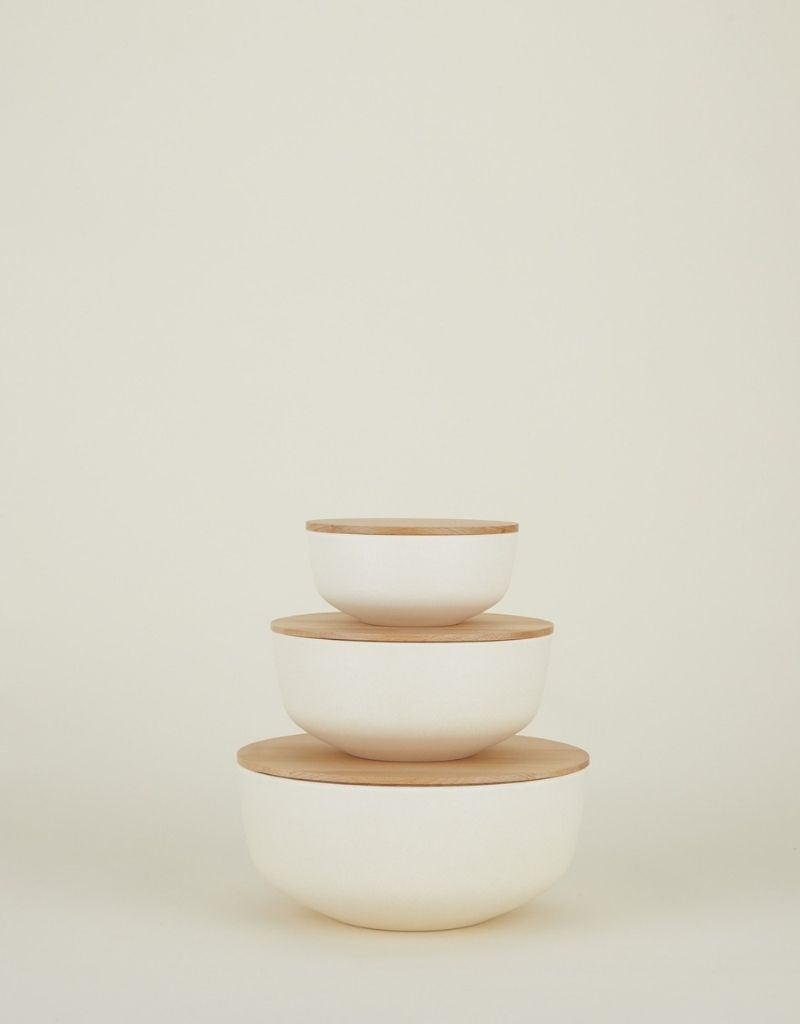 Lidded Bowl Set - Ivory