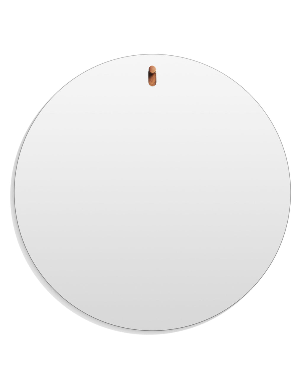 Hang 1 Large Round Mirror Walnut