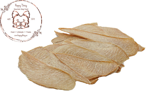Chicken Jerky 100 g / 3.5 oz - Happy Daisy Gourmet Dog Food