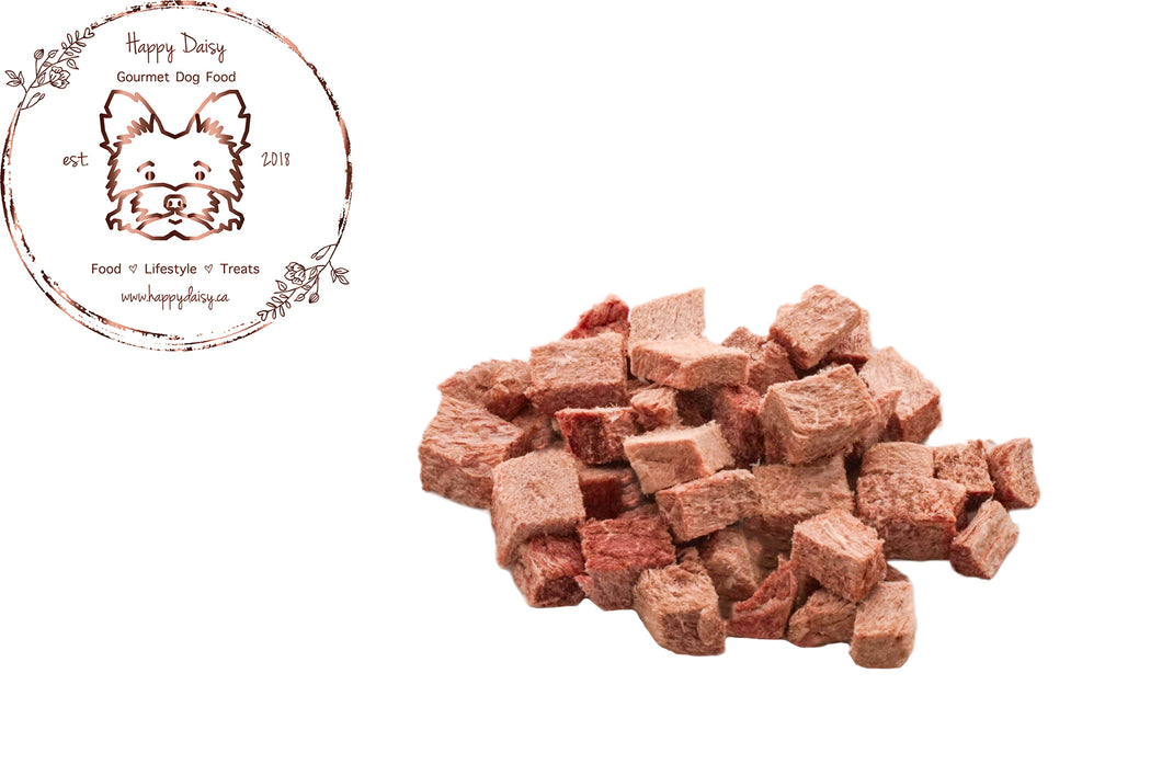 Freeze Dried Beef 85 g / 3 oz - Happy Daisy Gourmet Dog Food