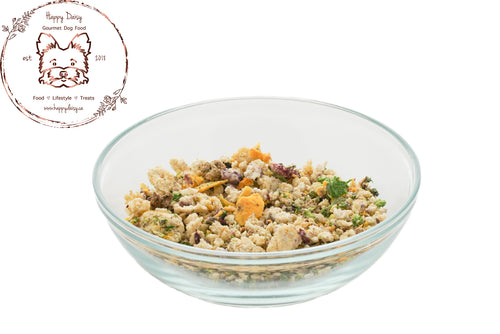 Choose Your Protein Freeze Dried Food 1260 g / 44.4 oz (4 Week Supply For 10 Pound Dog) - Happy Daisy Gourmet Dog Food