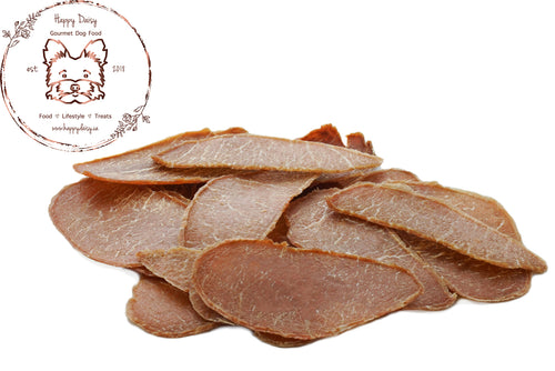 Pork Jerky 100 g / 3.5 oz - Happy Daisy Gourmet Dog Food