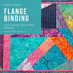 How To Make a Flanged Binding by Kate Colleran